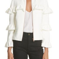 Ted Baker London Frilled Crop Sleeve Jacket | Nordstrom