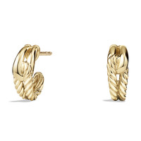 Labyrinth Earrings in Gold - David Yurman - Gold