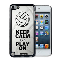 IPod 5 Touch Case Thinshell Case Protective IPod 5G Touch Case Shawnex Volleyball Keep Calm Play On Volleyball Player
