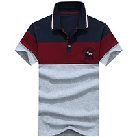 High Quality Tops&Tees Men's Polo Shirts Patchwork Polo For Clothing