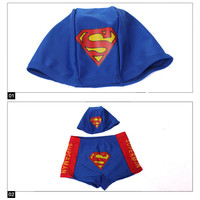 Boys Superman Trunks & Cap