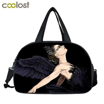 High Quality Vintage Women Handbags Elegant Swan Lake Ballet Shoulder Bags Female Casual Tote Women Travel Bags Bolsos Mujer