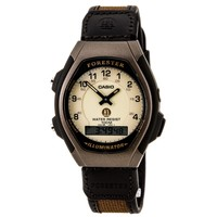Casio FT600WB-5B Men's Forester Sports Analog-Digital Beige Dial Brown Resin Alarm Watch