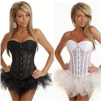 Women's Hot Sexy Underbust Bustier Waist Cincher Training Corsets Body Shapers Wear For Fitness Sexy Lingerie Corset = 4804929732