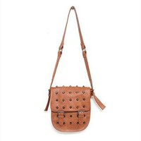 Punk StyleRetro Rivet Crossbody Bag