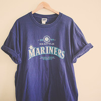 Seattle Mariners Navy Blue Tshirt Unisex Extra Large  XL Work Shirt Hipster Seattle Style Mariner Seattle Sports MLB