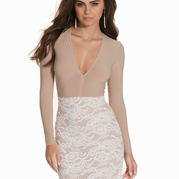 Contrast Lace Dress, NLY One