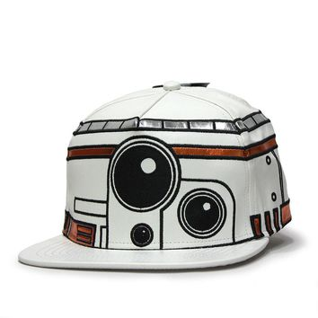 Star Wars Episode 7 BB8 Big Face Flat Brim Snapback Baseball Cap