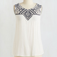 Mid-length Sleeveless Brie Your Mind Top by ModCloth