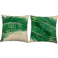 Lost in Paradise Palm Fronds Throw Pillows