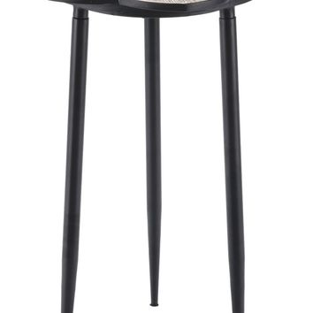 Daisy End Table Distressed Natural & Black