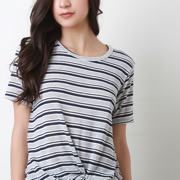 Knotted Stripe Tee Shirt
