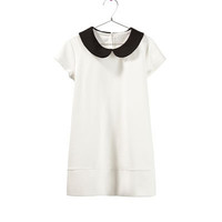 PONTE DI ROMA DRESS WITH CONTRASTING COLLAR - Dresses - Girl - Kids | ZARA United States