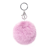 Furry Purple Keychain