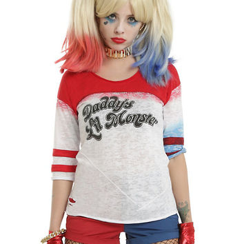 DC Comics Suicide Squad Daddy's Lil Monster Girls Raglan