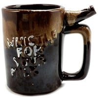 Whistle For Your Milk Coffee Mug Vintage 8oz Dripware Brown Childs Cup k546