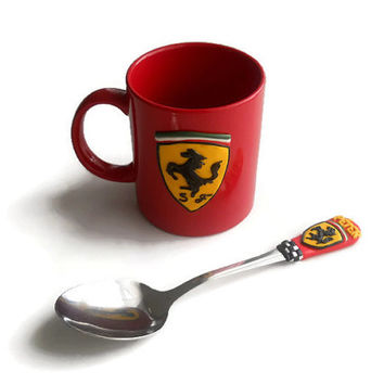 Ferrari sett: mug with spoon