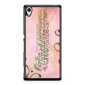 Happy Thankful Appreciaton Sony Xperia Z4 Case