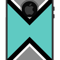 Otterbox iPhone Case Commuter Series iPhone 5 5s Hipster Modern Aztec Pattern Geometric Teal Black Protective Plastic Hard Cover OB-1094