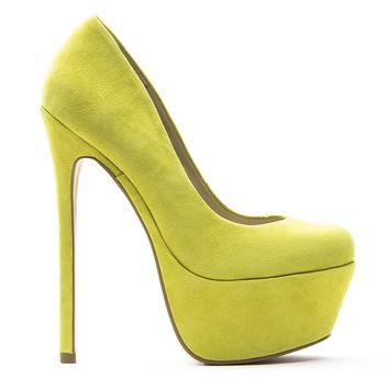ZIGI GIRL SPYGLASS PLATFORM PUMP - SWEET YELLOW SUEDE