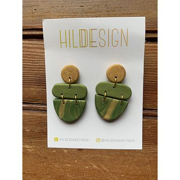 Green Tiered Shapes
