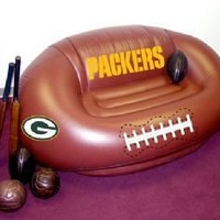 Green Bay Packers Inflatable Football Sofa