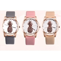 Womens  Pineapple Quartz  Watch