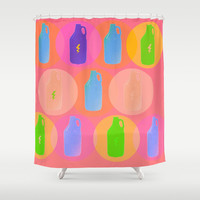 Summer Brews Shower Curtain by Bunhugger Design