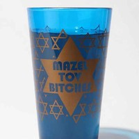 Mazel Tov B*tches Pint Glass- Blue One