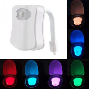 Smart Bathroom Human Motion Activated  Automatic RGB Back light for Toilet Bowl