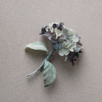 Silk flower boutonniere, handmade flower brooch, handmade silk flower pin brooch