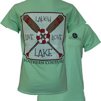 SALE Southern Couture Live Laugh Love The Lake Tube Paddles Girlie Bright T Shirt