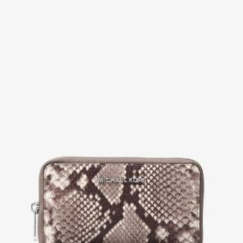 Jet Set Travel Large Embossed-Leather Phone Case | Michael Kors