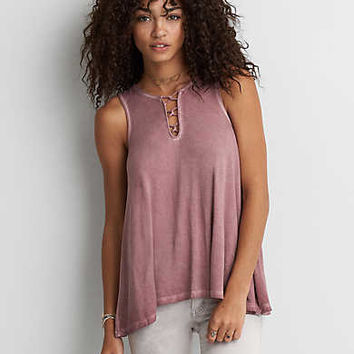 AEO Soft & Sexy Strappy Detail Tank, Berry