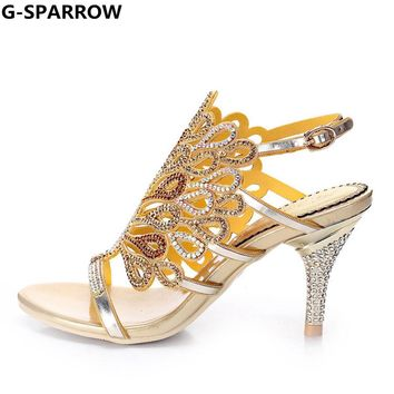 Women Sandals,New Design Hot Fashion and Sexy Rhinestone Wedding and Party Evening dress Sandals big size 35-44 ,Women Shoes