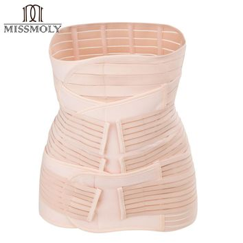 3 in 1 Postpartum Support Recovery Belly/waist/pelvis Belt Shapewear Slimming Waist Trainer Shapewear Girdle Breathable