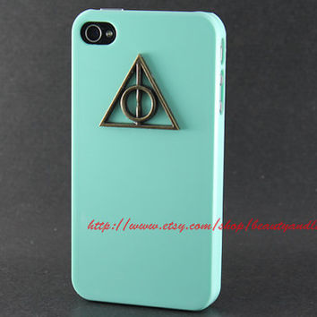 iphone 5 hard case, Deathly Hallows Harry Potter mint gree case for iPhone 5 Case, iPhone 5 Hard Case