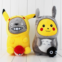 35cm 2styles You can Choose Cute Pokemon Plush Pikachu Cosplay Totoro & Totoro Cosplay Pikachu Soft Plush Toys for Kids Gift