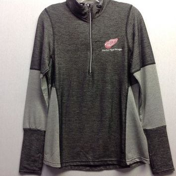 ONETOW NHL Detroit Red Wings Women's Half Zip Pullover