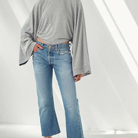Project Social T Demi Extreme Bell-Sleeve Fleece Top   Urban Outfitters