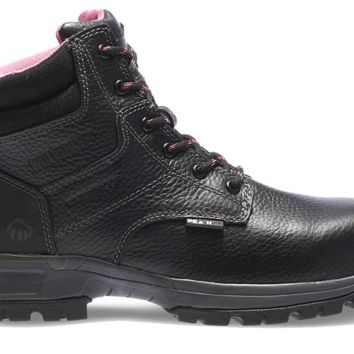"Wolverine Women's PIPER WATERPROOF COMPOSITE-TOE EH 6"" WORK Boots - Black"
