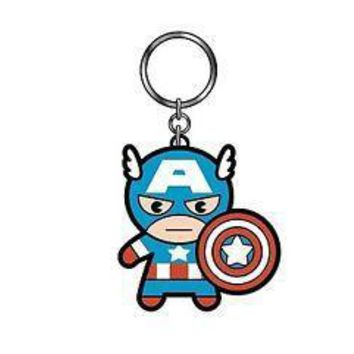 Captain America Rubber Keychain