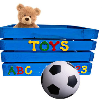 Kids Toy Box (Baby Child Children Toy Wooden Crate Chest Storage)