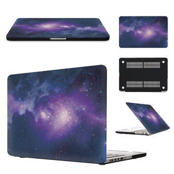 SKULL BRO For Apple Macbook AIR Pro Retina 11 12 13 15 Rubberized Matte Cover Case Laptop Hard PC Shell Milky Way Starry Sky