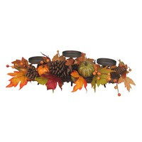 3-pillar Fall Harvest Candle Holder