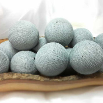 100 light grey cotton ball pom pom garland decorative handmade ball display lantern home decor DIY
