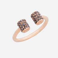 Luxe Pave Barrel Ring