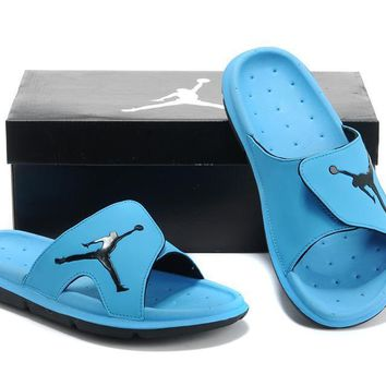 Nike Air Jordan Blue Casual Sandals Slipper Shoes Size US 7-13-1