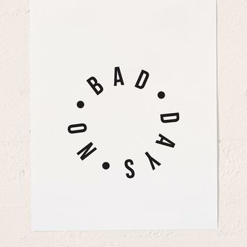 Honeymoon Hotel No Bad Days Art Print | Urban Outfitters