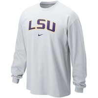 Nike LSU Tigers Classic Arch Long Sleeve T-Shirt - White